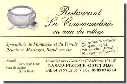 Restaurant « La Commanderie »