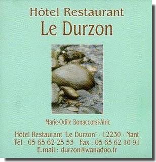 Hôtel Restaurant « Le Durzon »