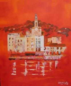 Sète : la décanale Saint-Louis (peinture de Régine Zadoinoff)