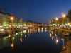 Canaux de Sète la nuit